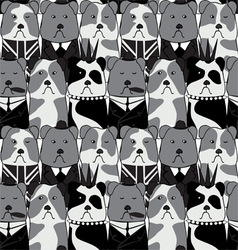seamless pattern with the English Bulldog vector image vector image