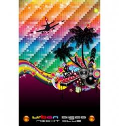 tropical dance disco flyer vector image vector image