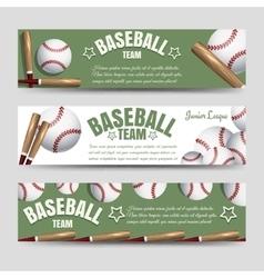Baseball team banners vector image vector image