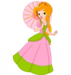 beautiful princess at summer day vector image