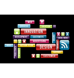 Innovation design cloud vector image