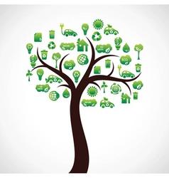 creative eco icon design vector image