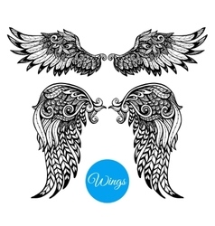 Decorative Wings Set vector image