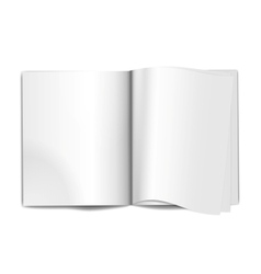 Magazine blank pages vector image vector image