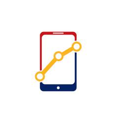 mobile result logo vector image