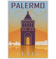 Palermo vintage poster vector image vector image