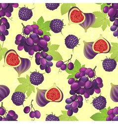 violet fruits seamless vector image vector image