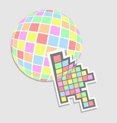 arrow web vector image