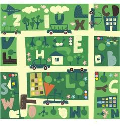 Cartoon Map vector image vector image