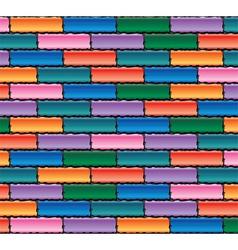 colorful brick wall vector image vector image