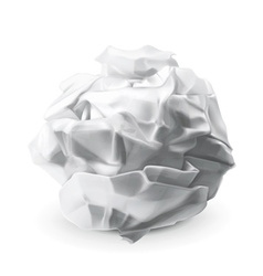 Crumpled paper vector image