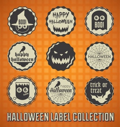 Happy Halloween Labels and Icons vector image