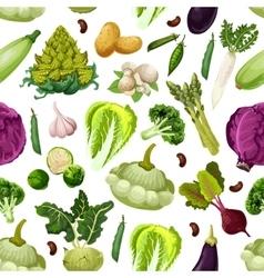 Vegetables vegetarian seamless pattern vector image vector image