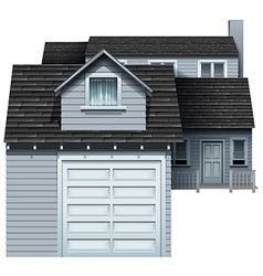 A big grey residential property vector