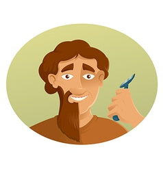 A Shaver and the beard vector image