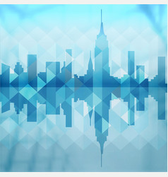 Abstract city building background design vector