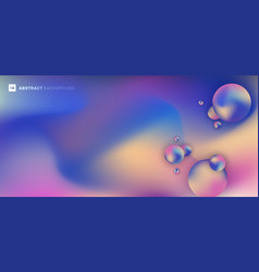 abstract trendy fluid shape gradient color and 3d vector image