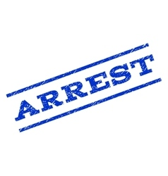 Arrest Watermark Stamp vector image