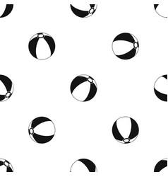 Beach ball pattern seamless black vector