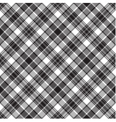 Black checkered tartan seamless pattern vector