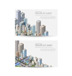 Business card of real estate vector image