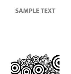 bw circles texture down vector image