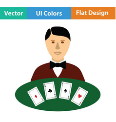 Casino dealer icon vector
