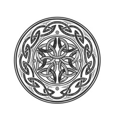 celtic ornament engraving vector image