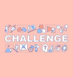 Challenge salmon word concepts banner goal vector