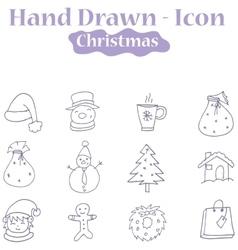 Christmas theme icons vector