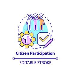 Citizen participation concept icon vector