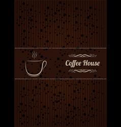 Coffee menu cover vector