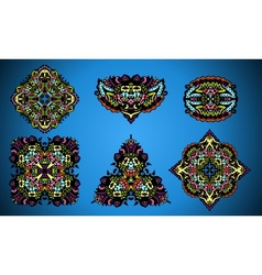 collection of damask ornamental elements vector image