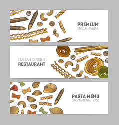 collection of horizontal web banner templates with vector image