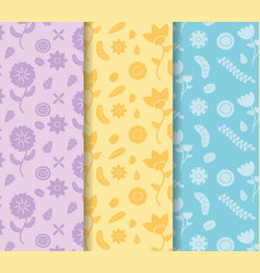 colored banners flowers decoration vector image