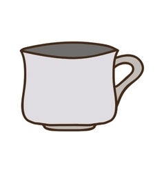Colorful porcelain mug utensil kitchen vector