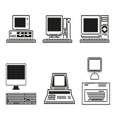Computer Set vector image