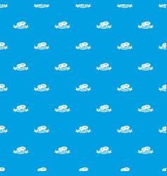 conversation pattern seamless blue vector image