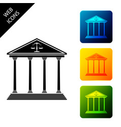 courthouse building icon isolated on white vector image