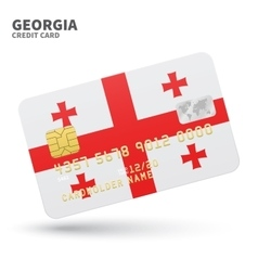 Credit card with Georgia flag background for bank vector