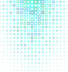 Cyan abstract square pattern background vector