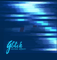 Digital glitch effect background vector
