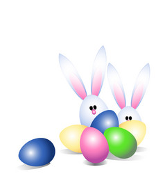 Easter eggs and easter bunny vector