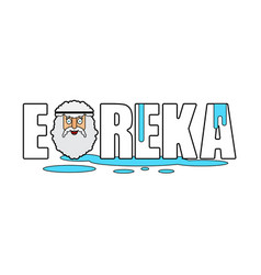 Eureka archimedes face ancient greek vector