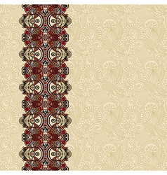 floral background with ornament stripe vector image