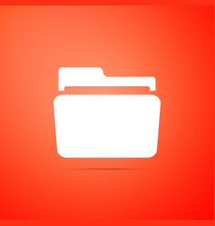 folder icon isolated on orange background vector image