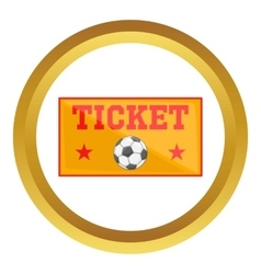 Football tickets icon vector