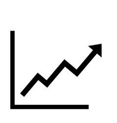 Growing bars graphic vector image