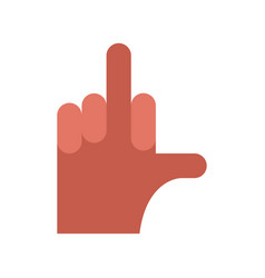 Hand aggression symbol middle finger up vector