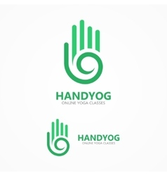 Hand with a spiral logo vector